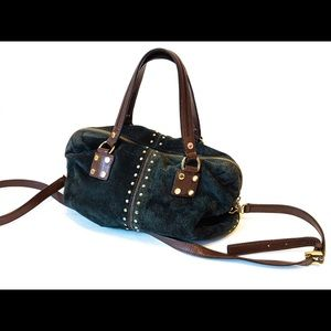🔥 👜 MICHAEL KORS Astor Evergreen Suede Leather!